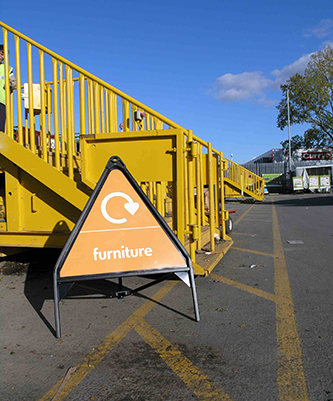 Freestanding Waste Stream Signs for Portsmouth City Council