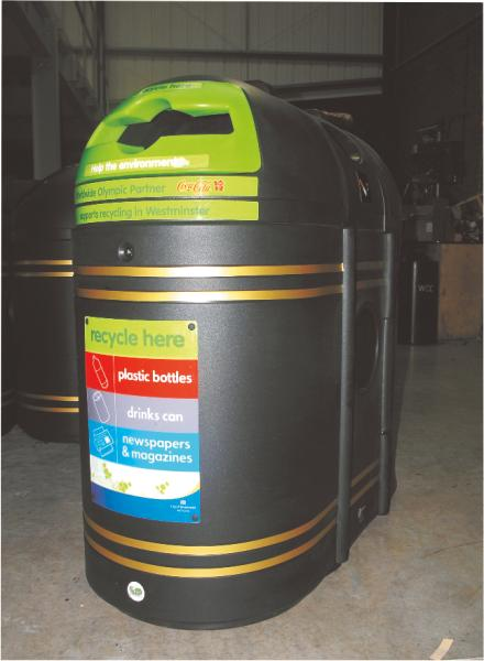 WESTMINSTER BIN FRONT VIEW
