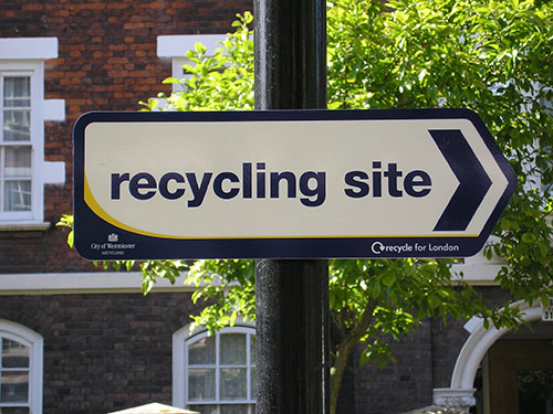 WCC RECYCLING SITE DIRECTION SIGN