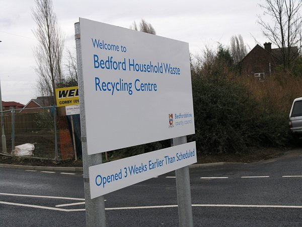 BEDFORD HWRC ENTRANCE SIGN