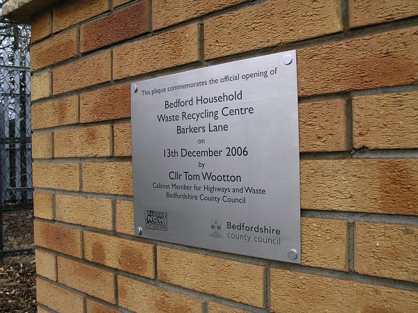 BEDFORD HWRC PLAQUE
